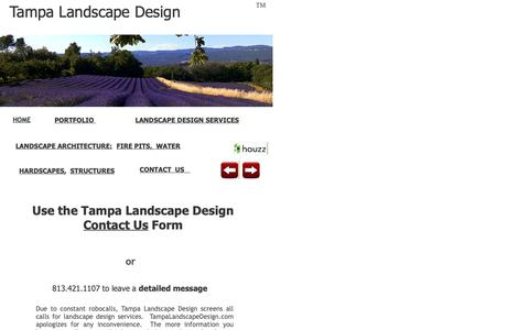 Screenshot of Contact Page Maps & Directions Page tampalandscapedesign.com - Contact Tampa Landscape Design Form - captured Oct. 20, 2018
