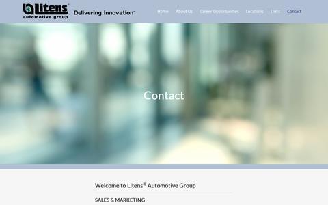 Screenshot of Contact Page litens.com - Contact Us - captured Nov. 10, 2016