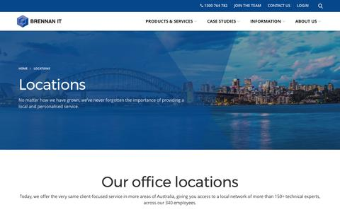 Screenshot of Locations Page brennanit.com.au - Office Locations | Brennan IT - captured March 16, 2017