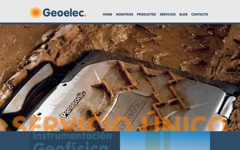 Screenshot of Home Page geoelec.com.mx - Geoelec | Home - captured Dec. 8, 2015
