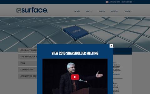 Screenshot of Team Page esurface.com - Executives Archive - eSurface - captured Nov. 15, 2016