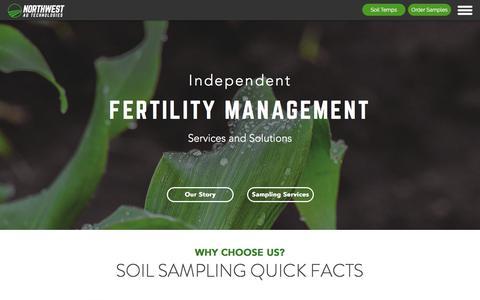 Screenshot of Home Page nwagtech.com - Northwest Ag Technologies | Independent Soil Sampling | Paullina, IA - captured Oct. 22, 2017