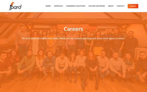 Screenshot of Jobs Page Team Page jpard.com - jpard Solutions | Software Development Careers - captured June 8, 2017