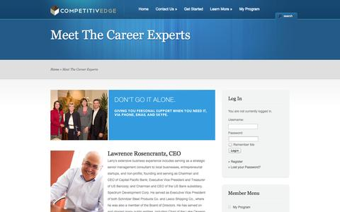 Screenshot of About Page competitiv-edge.com - Meet The Career Experts « Competitiv-Edge - captured Oct. 2, 2014