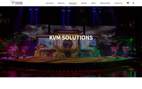 Screenshot of Case Studies Page ihse.com - KVM Solutions | Modular and individual for your specific requirements - captured Dec. 16, 2018