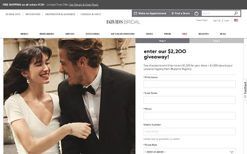 Screenshot of Signup Page davidsbridal.com - Registration - David's Bridal - captured May 10, 2019