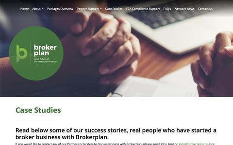 Screenshot of Case Studies Page brokerplan.co.uk - Case Studies - Brokerplan - captured Nov. 6, 2018