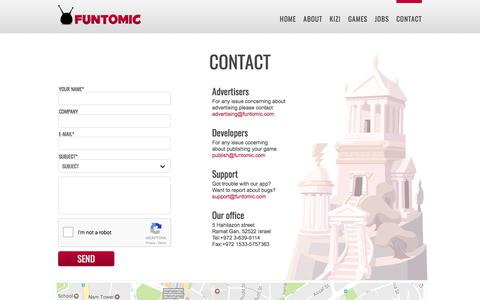 Screenshot of Contact Page funtomic.com - CONTACT  |  Funtomic - captured June 6, 2017
