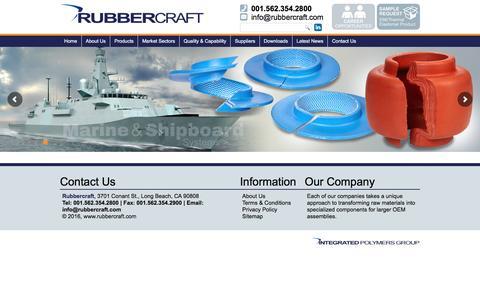 Screenshot of Site Map Page rubbercraft.com - Sitemap - Elastomeric Seals, Gaskets & Solutions - Rubbercraft - captured Aug. 17, 2016