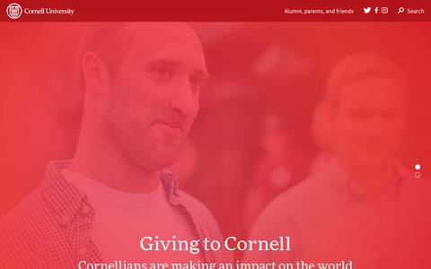 Home | Giving to Cornell | Cornell University