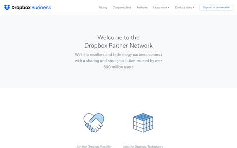 Dropbox Partners Network - Dropbox Business