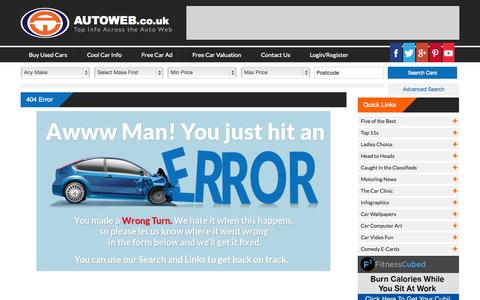 Screenshot of Terms Page autoweb.co.uk captured Sept. 23, 2014