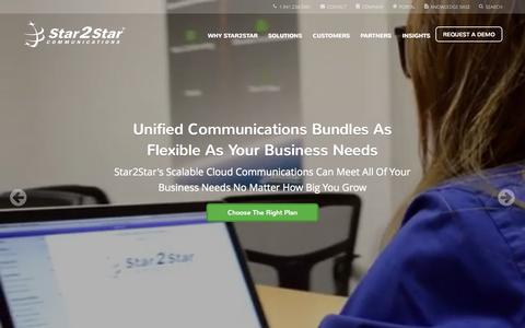 Screenshot of Home Page star2star.com - Star2Star: World's Most Scalable Cloud Communications Solution - captured Nov. 16, 2015
