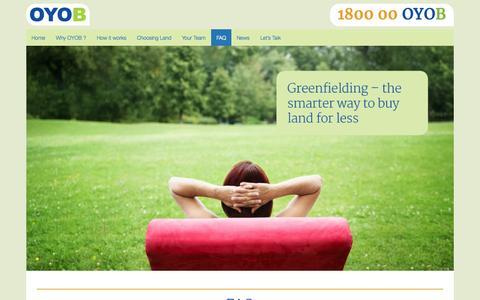 Screenshot of FAQ Page oyob.com.au - FAQ | OYOB - captured Oct. 7, 2014