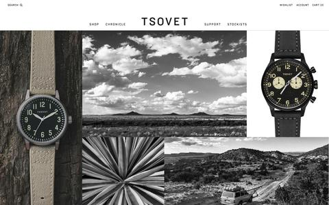 Screenshot of Contact Page tsovet.com - TSOVET : We're passionate about designing and building watches. - captured Sept. 22, 2014
