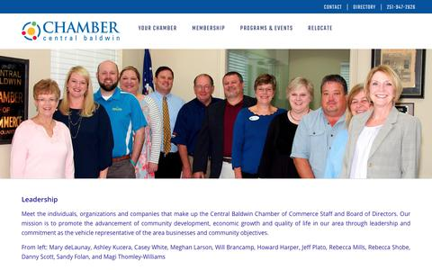 Screenshot of Team Page centralbaldwin.com - Central Baldwin Chamber of Commerce | Leadership - captured Sept. 27, 2018