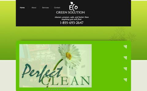 Screenshot of Home Page ecogreensolution.com - Home - captured Sept. 29, 2014