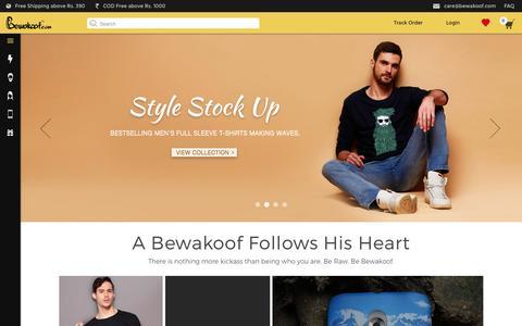 Screenshot of Jobs Page bewakoof.com captured Oct. 2, 2015