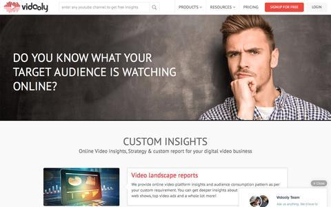 Custom Online Video Insights & Reports | Vidooly