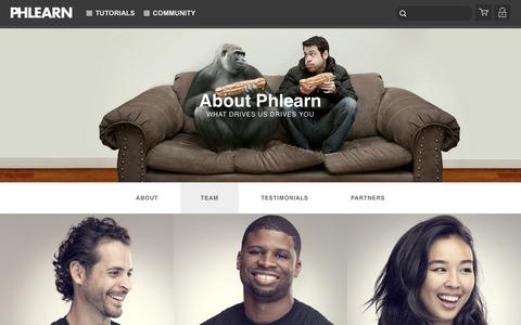 Screenshot of Team Page phlearn.com - Team - captured Feb. 23, 2016