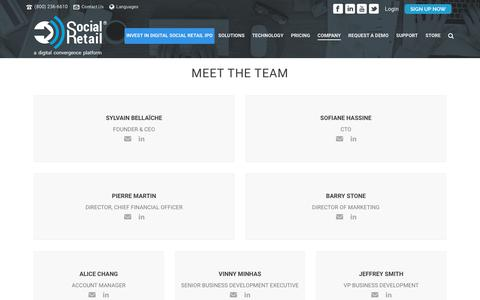 Screenshot of Team Page digitalsocialretail.com - Social Retail | Team - captured April 8, 2018