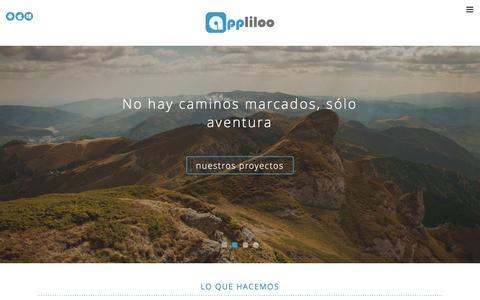 Screenshot of Home Page appliloo.com - Desarrollo aplicaciones apps ipad moviles Madrid - captured Dec. 25, 2015