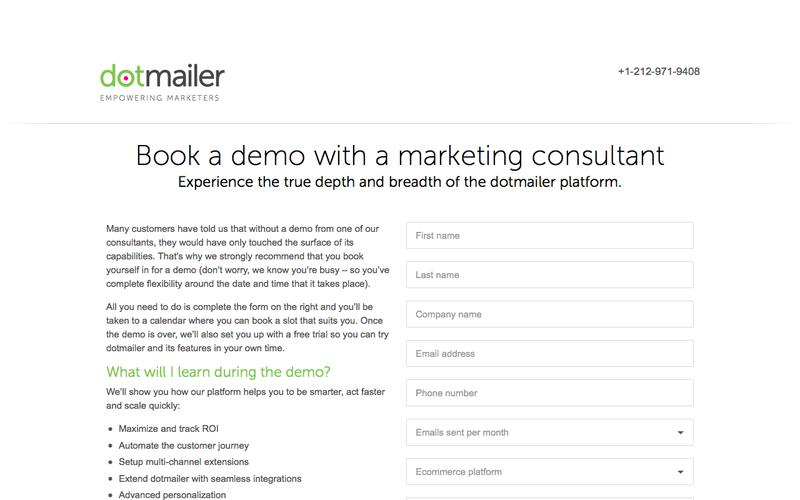 Email Automation Demo | dotmailer