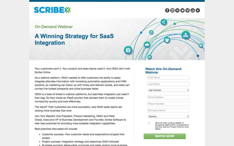 A Winning Strategy for SaaS Integration