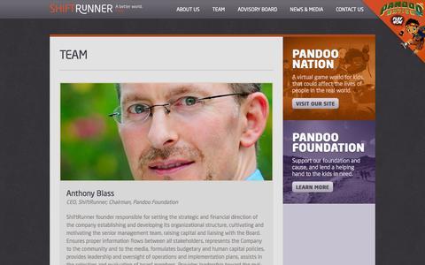 Screenshot of Team Page shiftrunner.com - Shiftrunner | Team - captured Oct. 26, 2014