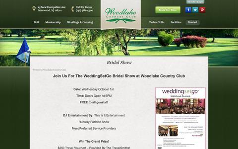 Screenshot of Blog woodlakecountryclub.com - Blog | Woodlake Country Club - Lakewood, NJ - captured Oct. 7, 2014