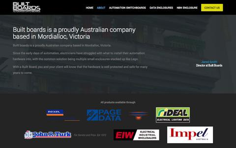 Screenshot of About Page builtboards.com.au - Built Boards | About - captured Sept. 30, 2014