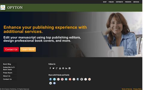 Screenshot of Services Page opyton.com - Services | Opyton PublishingOpyton Publishing - captured Feb. 14, 2016