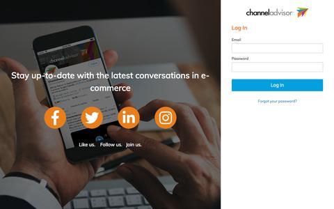 Screenshot of Login Page channeladvisor.com - Log In - captured Nov. 7, 2019