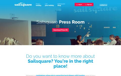 Screenshot of Press Page sailsquare.com - Sailsquare Press Room - captured Oct. 30, 2017