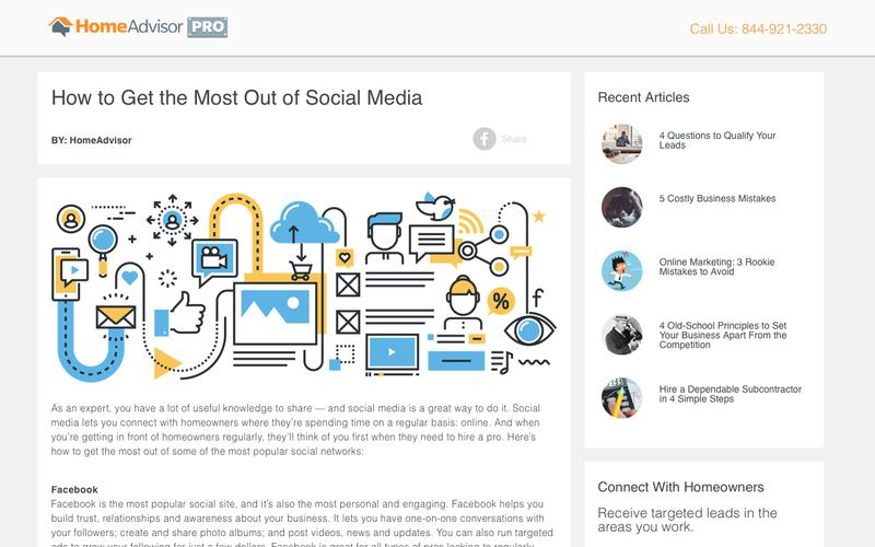 HomeAdvisor Pro | How to Get the Most Out of Social Media