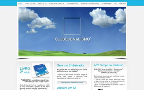 Screenshot of Home Page clubedenadismo.com.br - clube de nadismo - captured Sept. 30, 2014