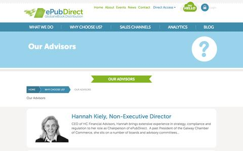 Screenshot of Team Page epubdirect.com - ePubDirect - Global eBook Distribution - Our Advisors - captured Sept. 16, 2014