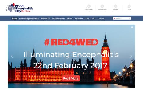 Screenshot of Home Page worldencephalitisday.org - World Encephalitis Day 2017 - captured June 17, 2017