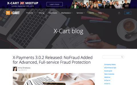 Screenshot of Blog x-cart.com - X-Cart: PHP shopping cart software for e-commerce web-sites. - captured Sept. 16, 2016