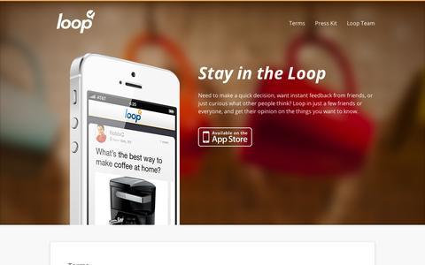 Screenshot of Terms Page loopapp.co - Terms   Loop - captured Sept. 10, 2014