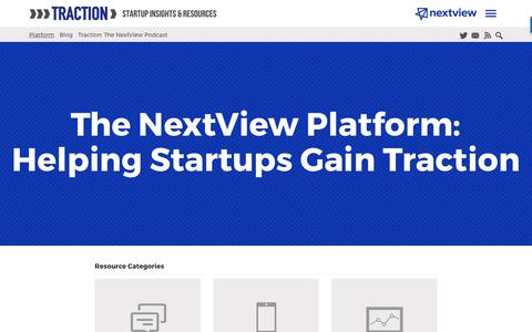 The NextView Platform: Helping Startups Gain Initial Traction