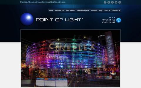 Screenshot of Home Page polstudios.com - Point of Light | Orlando - Chicago - captured Oct. 3, 2014