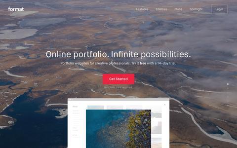 Format.com – Online Portfolio website