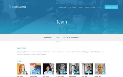 Screenshot of Team Page vilcap.com - Team | Village Capital - captured Dec. 1, 2016