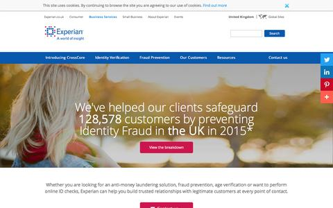 Identity Fraud Solutions | Identity & Fraud | Experian UK