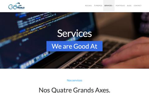 Screenshot of Services Page goworld.fr - Services - Go World Company - captured Jan. 30, 2016