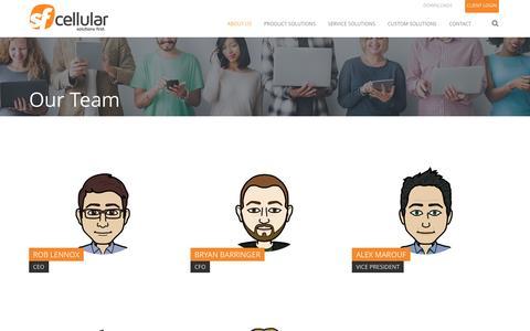 Screenshot of Team Page sfcell.com - Our Team - SF Cellular - captured Dec. 2, 2016