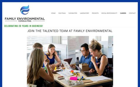 Screenshot of Jobs Page familyenvironmental.com - Careers — Family Environmental - captured Aug. 12, 2018