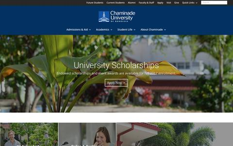 Screenshot of Home Page chaminade.edu - Chaminade University of Honolulu | Vita in Verbo - captured July 24, 2017