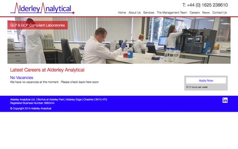 Screenshot of Jobs Page alderleyanalytical.com - Careers Archive � Alderley Analytical - captured Dec. 24, 2015